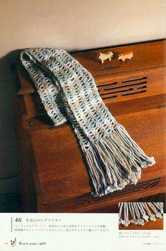 =(^.^)=Rô Tricô e Crochê Mania=(^.^)=: Cachecol em crochet...