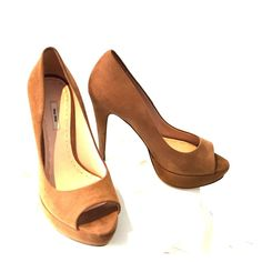 Miu Miu shoes Beautiful open to go tan suede platform heels worn only once for two hours sorry to let them go don't have room in my closet there in almost perfect condition. Miu Miu Shoes Heels