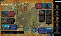 World of Warcraft the Official Magazine #1 on Behance good explanatory spread w/map