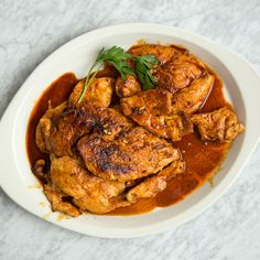Marcia Kiesel browns chicken breasts in butter on the stove before roasting them in the oven; the butter enriches both the chicken and browned pan jui...