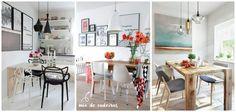 """Ultimamente andamos postando mais fotos """"minimalistas"""" e com design escandinavo no nosso insta (@casadasamigas), vocês notaram? hahaha Andamos apaixonadas pelo estilo nórdico e escandinavo, já até fizemos um post falando sobre os banheiros escandinavos, com pinus, coisa mais linda. E agora vamos mostrar um pouco mais, as salas de jantar. Tentamos separar, mas muitas vezes …"""
