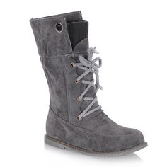 Casual Suede and Lace-Up Design Women's Sweater Boots