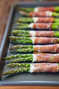 Crispy Prosciutto Wrapped Asparagus ~ https://steamykitchen.com