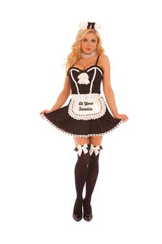 PIN10 for 10% off Halloween Costumes! French Maid, At Your Service Maid Halloween Costume - Elegant Moments
