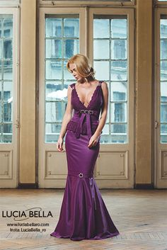 Because purple has been considered a colour for royalty since ages, our Luciabella Emotion dress will reveal the true princess in each of you!!!  Check us out on: www.luciabella.ro for more and don't forget to contact us for more information.