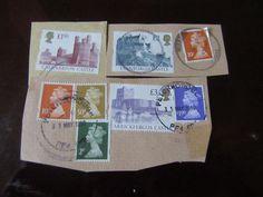 British Stamps Lot of 8 pcs Stamps, Castle, It Cast, British, Cover, Stuff To Buy, Vintage, Art, Craft Art