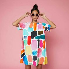 all eyes on these shapes 👀 the shapes jersey dress from our x gorman collaboration is ready for you to take it home x . Look Fashion, Diy Fashion, Ideias Fashion, Fashion Outfits, Womens Fashion, Fashion Design, Fashion Trends, Quirky Fashion, Looks Style