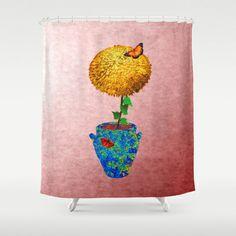 Marigolds for Tamarinde Shower Curtain by Khana's Web - $68.00