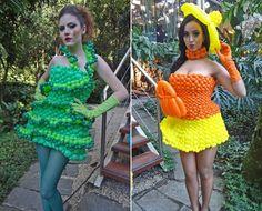 vestidos de balões feitos por Fagner Campos