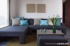 Estar familiar: Salas multimedia de estilo moderno por MARIANGEL COGHLAN