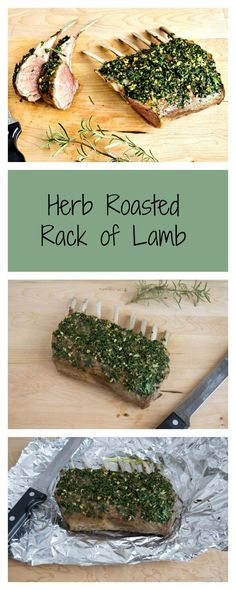 Whole 30 Herb Roasted Rack of Lamb Simple and Delish!