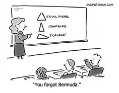 Triangle humor....think about it.