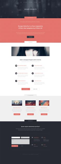 Escape Velocity, a responsive site template by ~nodethirtythree on deviantART