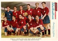 EQUIPOS DE FÚTBOL: SELECCIÓN DE ESPAÑA contra Suecia 17/06/1951