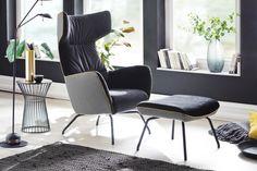 """Supermoderní a velmi pohodlné provedení klasického """"ušáku"""", křeslo je použitelné samostatně nebo jako doplněk k sedacím soupravám. V látkovém i celokoženém provedení. Eames, Armchair, Dining Chairs, Lounge, Modern, Home Decor, Furniture, Office, Komfort"""