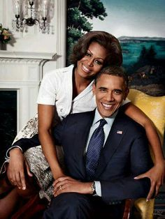 President Barack Obama and the First Lady Michelle Obama ❤