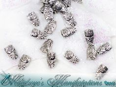 {100} Antq Silver Finish Owl Beads 6x10mm. Starting at $5 on Tophatter.com!