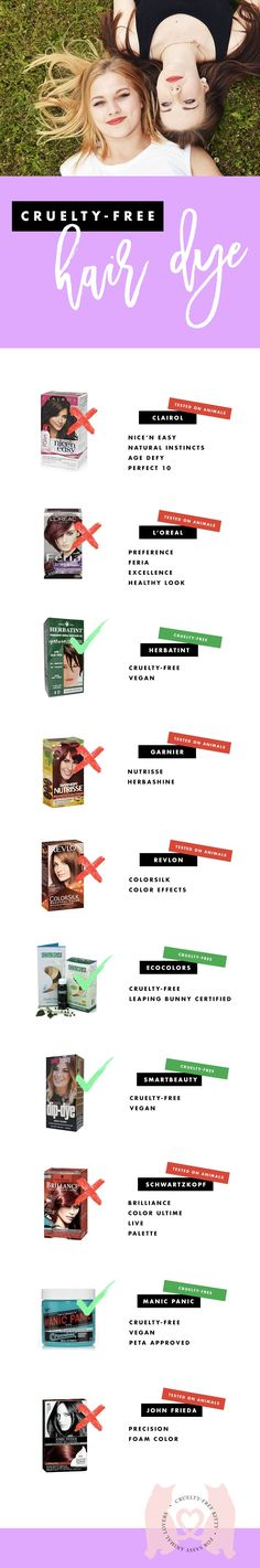 Cruelty-free and vegan hair dye options for natural AND bright colors! #crueltyfree