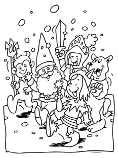 Kleurplaten On Pinterest Sinterklaas Coloring Pages And