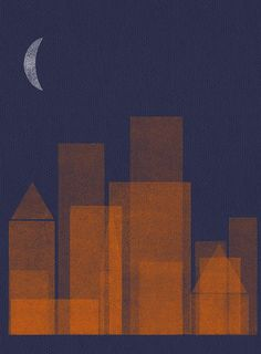night city_orange/navy blue   by sergeyt
