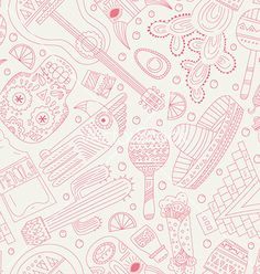 Mexico seamless pattern vector  by Favete on VectorStock®
