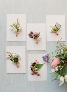 Joy Proctor Design: «Blooms for the boys. Photo: l Floral: l Styling Board: Floral Wedding, Wedding Bouquets, Wedding Flowers, Elegant Wedding, Groom Boutonniere, Boutonnieres, E Design, Floral Design, Button Holes Wedding