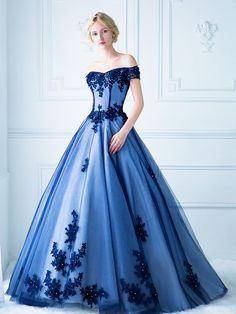 "inkxlenses:  ""Royal Blue Wedding Dresses: No.9 Wedding, Digio Bridal, Z Wedding, Stella de Libero  """