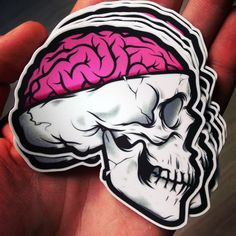 Brain Skull by Musketon , via Behance