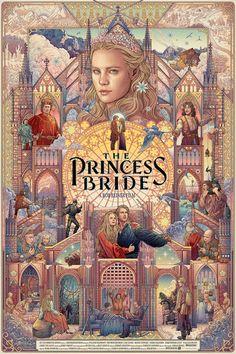 The Princess Bride by William Goldman (illustration by Ise Ananphada) Comic Collage, Beau Film, Anime Kunst, Poster Design, Art Design, Movie Poster Art, Vintage Movie Posters, Poster Drawing, Vintage Movies