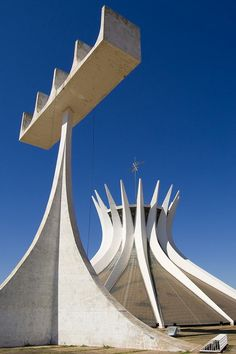 The Cathedral of Brasilia, Brazil,  designed by Oscar Niemeyer
