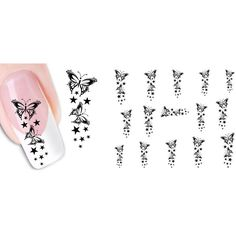1-Set Eminent Popular Hot New Nail Art Stickers Water Transfer DIY Tips Wraps Design Pattern Type NO.01 * To view further for this item, visit the image link.
