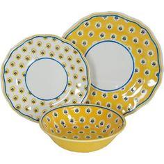 Le Cadeaux Fleur de Provence Yellow Melamine Dinnerware, Place Setting by Le Cadeaux, http://www.amazon.com/dp/B007LQB8H0/ref=cm_sw_r_pi_dp_exHQrb0TTJ37G