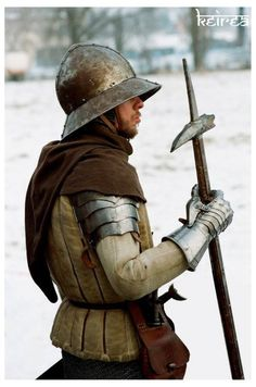 Pike Soldier in Sallet Helmet
