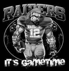 Raiders It's Gametime Oakland Raiders Images, Oakland Raiders Football, Raiders Baby, Nfl Oakland Raiders, American Football, Football Team, Football Season, Raider Nation, Raiders Stuff