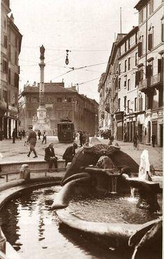 Piazza di Spagna (old picture), Roma