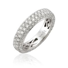 Brides: Women's Wedding Rings with Diamonds Diamond Wedding Bands for Women: Yael  Style 04389, platinum band with 1.97ct diamonds, $5,494, Yael Designs