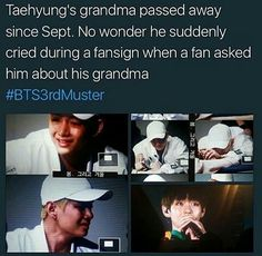 Oh dear. I am so sad for you Taehyung. Be strong dearie