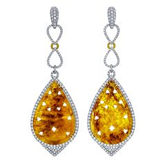Hand Carved Yellow Sapphires by SAMIRA®