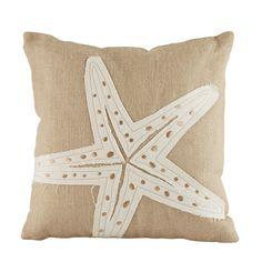 Birch Lane Starfish Jute Pillow Cover   Birch Lane