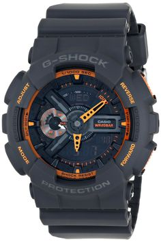 70e3c163f98 Amazon.com  Casio Men s GA-110TS-1A4 G-Shock Analog-Digital Watch With Grey  Resin Band  Casio  Watches
