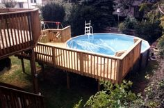 multilevel deck to pool - Google Search