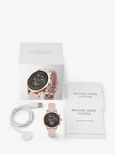 f5b4429df743 Michael Kors Runway Rose Gold-Tone and Silicone Smartwatch