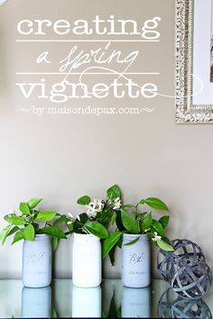 Don't miss these tips for creating a spring vignette in your own home | maisondepax.com