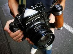 Pentax-67 - it's HUGE! That lens alone weighs just about two pounds - nearly a kilo!
