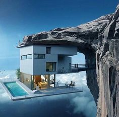 Modern house designs - Discover the unique design ideas of a modern home here. There are 21 examples of home design ideas created by professional architects Futuristic Architecture, Amazing Architecture, Interior Architecture, Architecture Antique, Fashion Architecture, Architecture Panel, Crazy Houses, Casas Containers, Cliff House