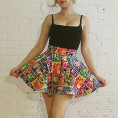 recycled some old bed sheets into a comical skirt - Imgur