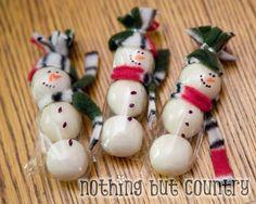 Gum Ball Snowmen