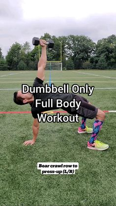 Full Body Hiit Workout, Gym Workout Videos, Fitness Workout For Women, Dumbbell Workout, Gym Workouts, Fitness Tips, Fitness Motivation, Kettlebells, Yoga