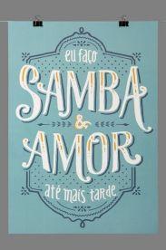 Estampa Poster Samba e Amor