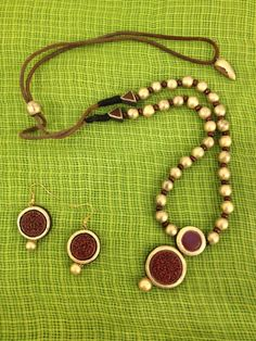 Terracotta Jewellery Set Product Link: - http://www.indiankalakari.com/product/terracotta-traditional-jewellery-1 About Terracotta: Terracotta Jewellery is 5000 yr old fashion tradition in India. Terracotta art has been found in Indus valley civilization and harappa mohenjo daro civilization in India.